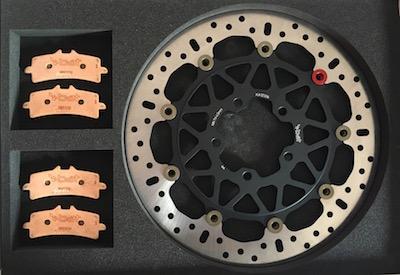 Set dischi BAT in acciaio per Kawasaki 2016