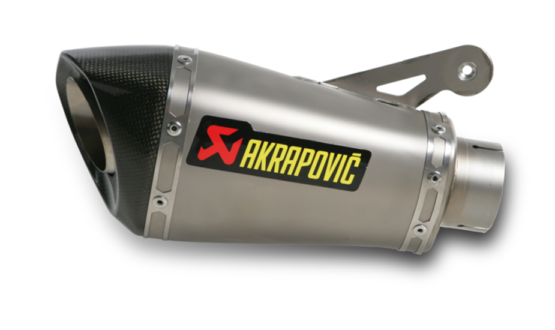 Silenziatore AKRAPOVIC omologato fodero titanio fondello carbonio